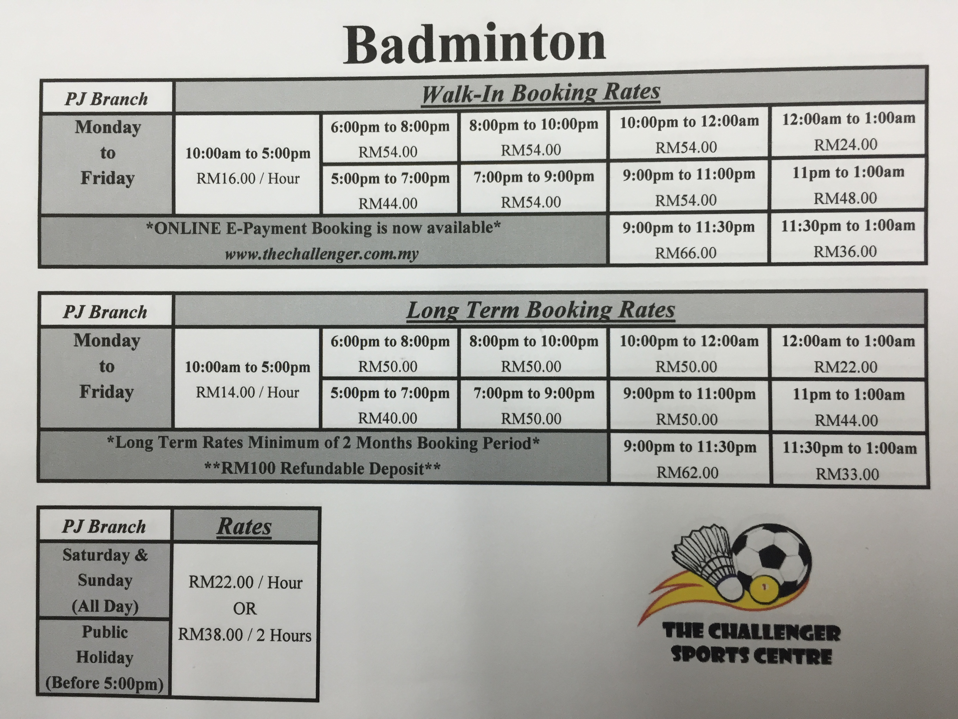 Badminton Rate   Time Table 84103a46ba260